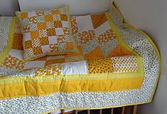 Úžitkový textil - Žltá patchworková súprava - 9697807_