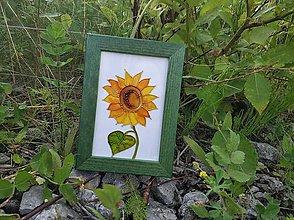 Obrázky - Sklenený obrázok v drevenom rámiku - 9696913_