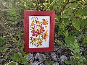 Obrázky - Sklenený obrázok v drevenom rámiku - 9696916_