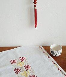 Úžitkový textil - Vyšívaný obrus - orient - 9697441_