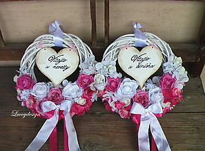 Dekorácie - svadobná sada venčeky - 9698976_