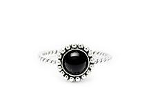 925 Strieborný prsteň s čiernym onyxom