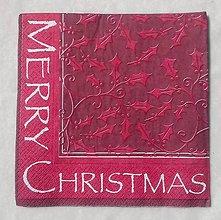 Papier - Tmavočervená vianočná - 9700635_