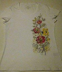 Tričká - Tričko s kvetmi - 9699030_