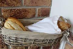 - Bavlnené vrecko nielen na chlebík (25 x 33 cm - bez výšivky) - 9700409_