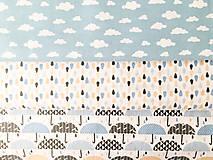 - dáždniky, 100 % bavlna Francúzsko, šírka 160 cm - 9700034_