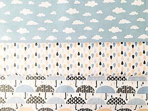 Textil - dáždniky, 100 % bavlna Francúzsko, šírka 160 cm - 9700034_