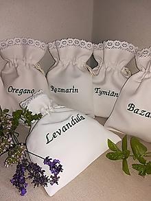 Úžitkový textil - Ľanové vrecúška - 9700501_