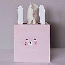 Krabičky - Krabička na servítky- Zajačik - 9700738_