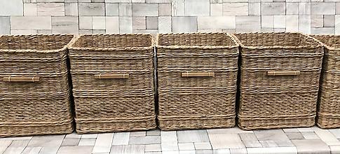 Košíky - Koše na mieru s drevenou rúčkou - 9699116_