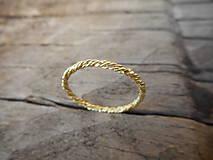Prstene - Spletaný prstienok - 9699246_