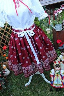 Sukne - Sukňa-folk bordo - 9699107_