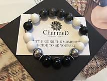 Náramky - Náramok Black&White / Black&White Bracelet - 9701249_