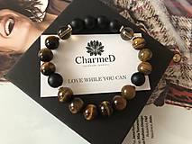Náramky - Liečivý mužský náramok / Healing Fertility Chakra Bracelet - 9701251_