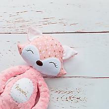 Hračky - Líštička ružovo-koralová - 9699392_
