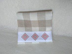 Úžitkový textil - Utierka s krížikovou výšivkou - 9700083_