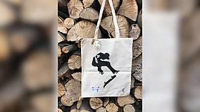Iné tašky - ♥ Plátená, ručne maľovaná taška ♥ - 9701009_