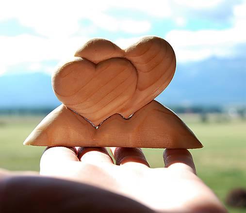 Dekorácia z dreva - Láska na Horách