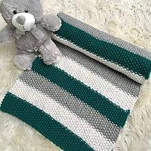 """Textil - Pletená detská deka pre bábätko """"Šum mora"""" - 9701222_"""