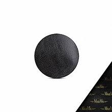 Pomôcky - Kožená podložka pod myš AMIRA - biela (čierna) - 9699514_
