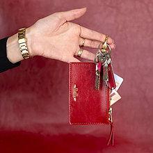 Peňaženky - Kožená kľúčenka/peňaženka MARATHON - červená (Červená) - 9701194_