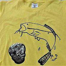 Detské oblečenie - Flitrové tričko pre rybára (svetlo modré) - 9699544_