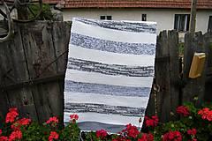 - Tkaný bielo-sivý koberec 2 - 9699796_