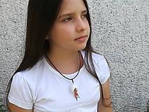 Náhrdelníky - Kokónový náhrdelníček s rokajlom - 9702009_