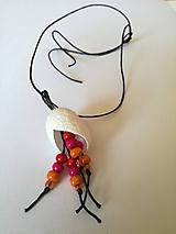 Náhrdelníky - Viacfarebný kokónový náhrdelníček - 9702043_
