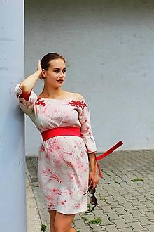 9c8496e5768d Šaty - Ručne maľované spoločenské šaty - 9701602