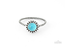 Prstene - CERTIFIKÁT 925 Striebrný prsteň s prírodným topásom - 9702679_