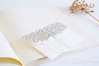 Papiernictvo - Svadobná obálka na peniaze - srdiečka II - 9703465_