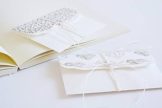 Papiernictvo - Svadobná obálka na peniaze - srdiečka I - 9703477_