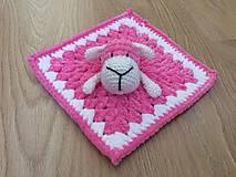Hračky - Mojkáčik ružová ovečka - 9701990_