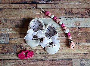 Topánočky - darčekový set pre dieťatko (Biela) - 9703148_