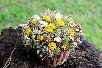 Dekorácie - Aranžmán zo sušených kvetov - 9702502_