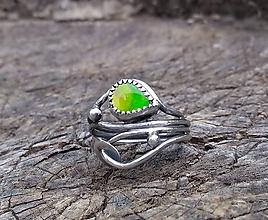 Prstene - Strieborný Prsteň s Ammolitom - 9702113_