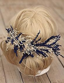 """Ozdoby do vlasov - Polvenček do vlasov """"Levanduľa s gypsophillou"""" - 9703579_"""