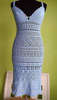 Šaty - Háčkované šaty - 9702217_