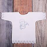 Detské oblečenie - Krstná košieľka - anjelik 2 (Modrá) - 9702191_