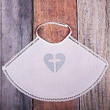 Detské oblečenie - Krstná košieľka - srdce (Modrá) - 9701816_