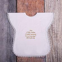 Detské oblečenie - Krstná košieľka - nápis Ver (Zlatá) - 9701967_