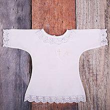 Detské oblečenie - Krstná košieľka - srdce s krížikom 2 (Biela) - 9701978_