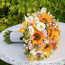 Kytice pre nevestu - Letná svadobná kytica - 9703415_