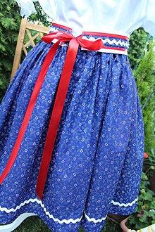 Sukne - Dámska  folklórna suknička+opasok - 9701598_