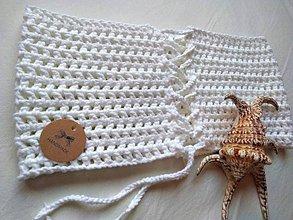 Topy - háčkovaný TOP - snehobiely z čistej bavlny - 9703334_
