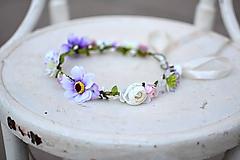 Ozdoby do vlasov - Letný kvetinový venček - 9702518_