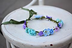 Ozdoby do vlasov - Letný kvetinový venček - 9702529_