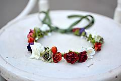 Ozdoby do vlasov - Letný kvetinový venček - 9702531_