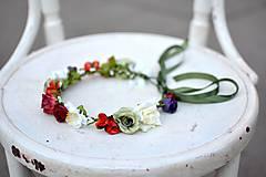 Ozdoby do vlasov - Letný kvetinový venček - 9702532_